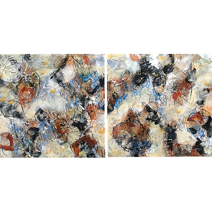 Just Sand & Pebbles Beneath My Toes (Diptych)