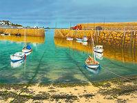 85.-Mousehole-Harbour.-Sunshine-after-Ra