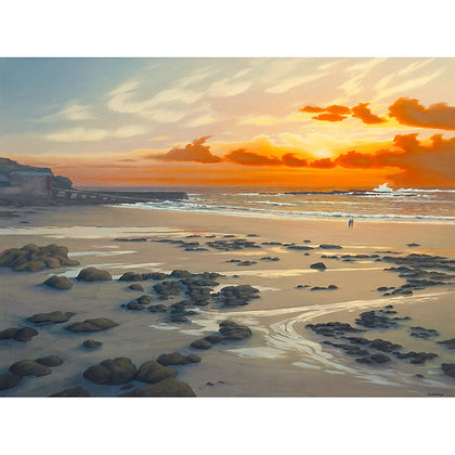 Watching Rough Seas, Sennen Sunset. West Penwith