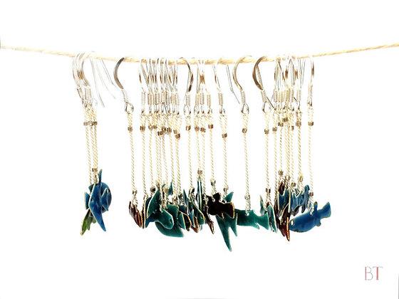 [Enameled Fish Earrings]