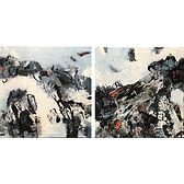 Rocks & White Water (Diptych)