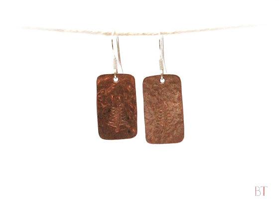 [Fern Earrings] – Copper