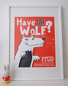 WANTED - Two Colour A2 Screen Print