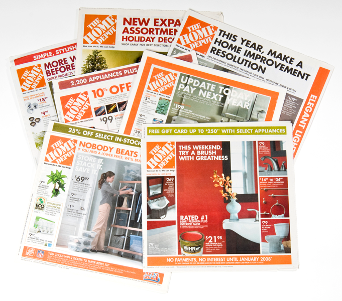Home Depot Front Page Ads