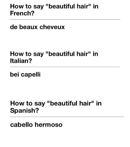When in Rome, compliment their hair!