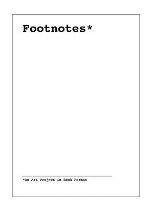 Footnotes AiR 2018 (20 May to 19 June 2018)