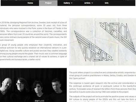 Punk Letter Project Web Site