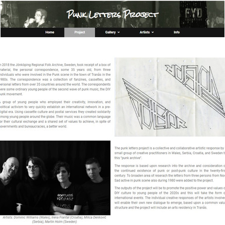 Punk Letter Project Web Site