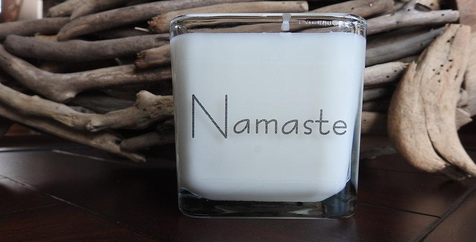 Glass Cube - Namaste