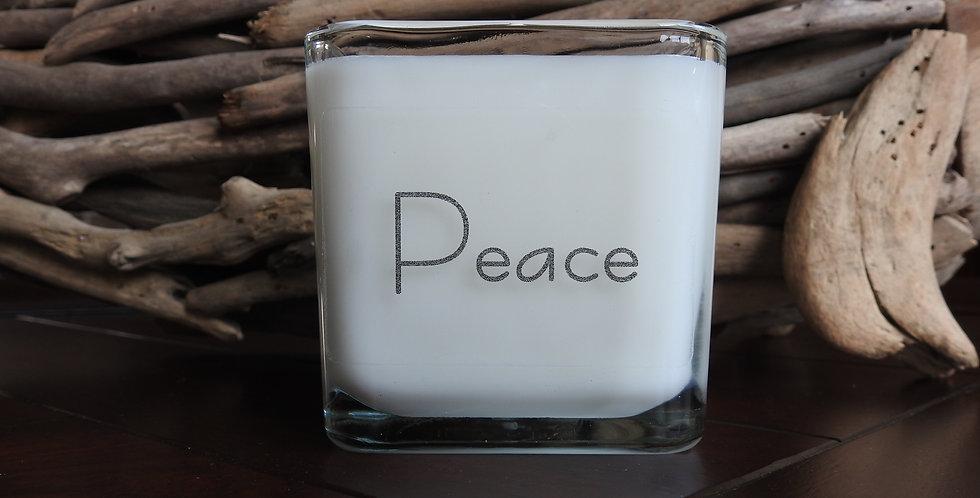 Glass Cube - Peace