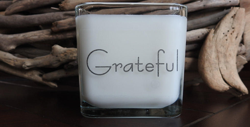 Glass Cube - Grateful