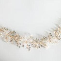 bridal hair vine 'iris'