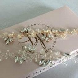 bridal hair vine 'clara'