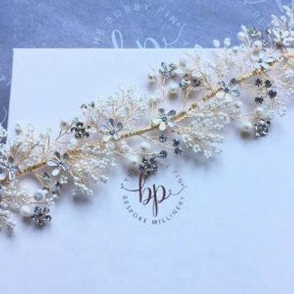 bridal hair vine 'lila'