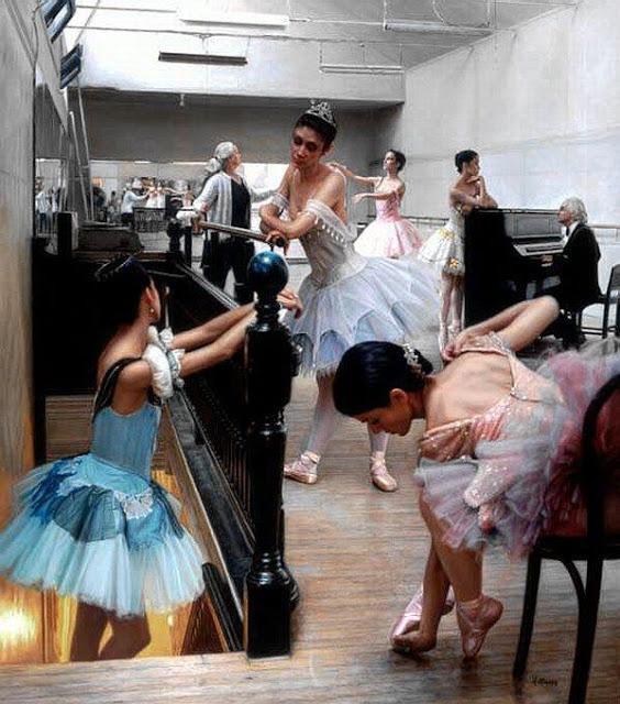 Dancers Rehearsing-1990
