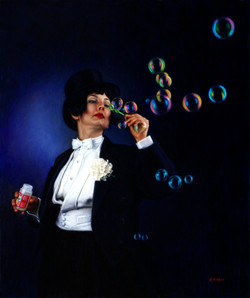 Elka Blowing Bubbles-20''x24''