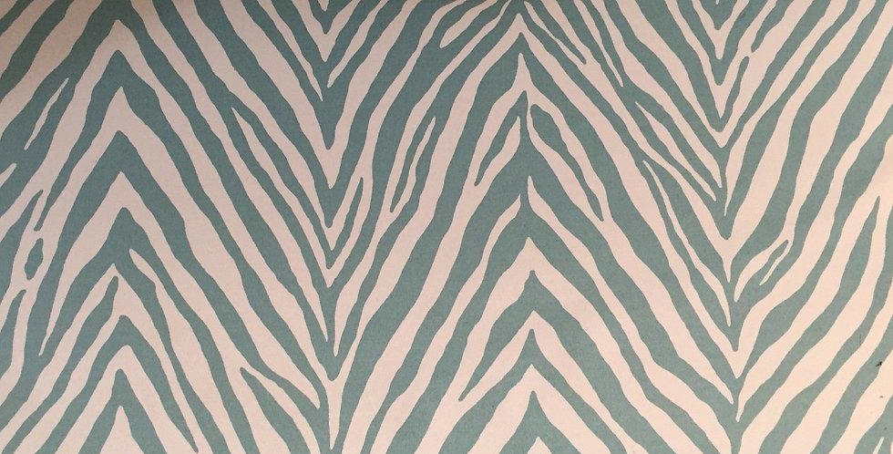 Spa Blue Zebra Outdoor Fabric