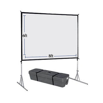 6 x 8 Fast fold projector Screens / Front and Rear