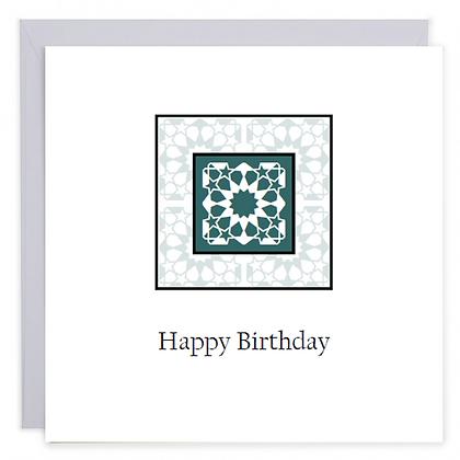 Blue Art Birthday Card