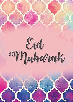 Pink Geo Eid Card - Eid22-1