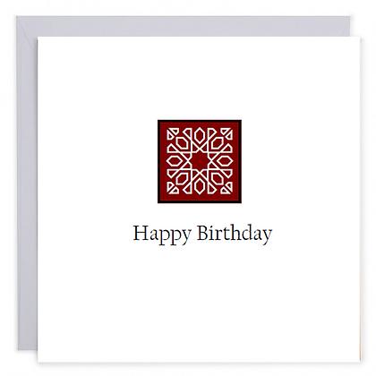 Red Art Birthday Card