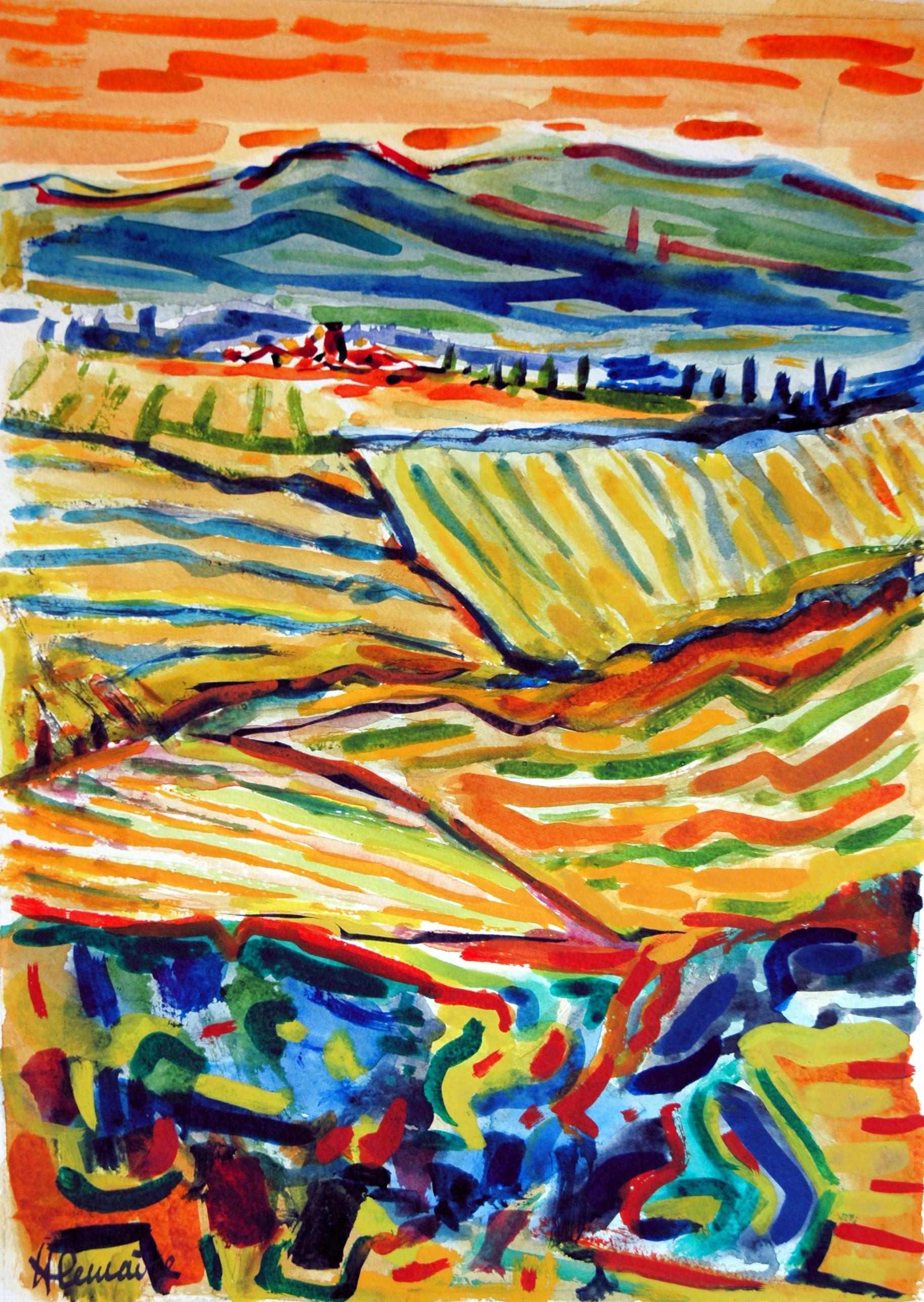 """""""Fertilité"""", paysage de Toscane"""