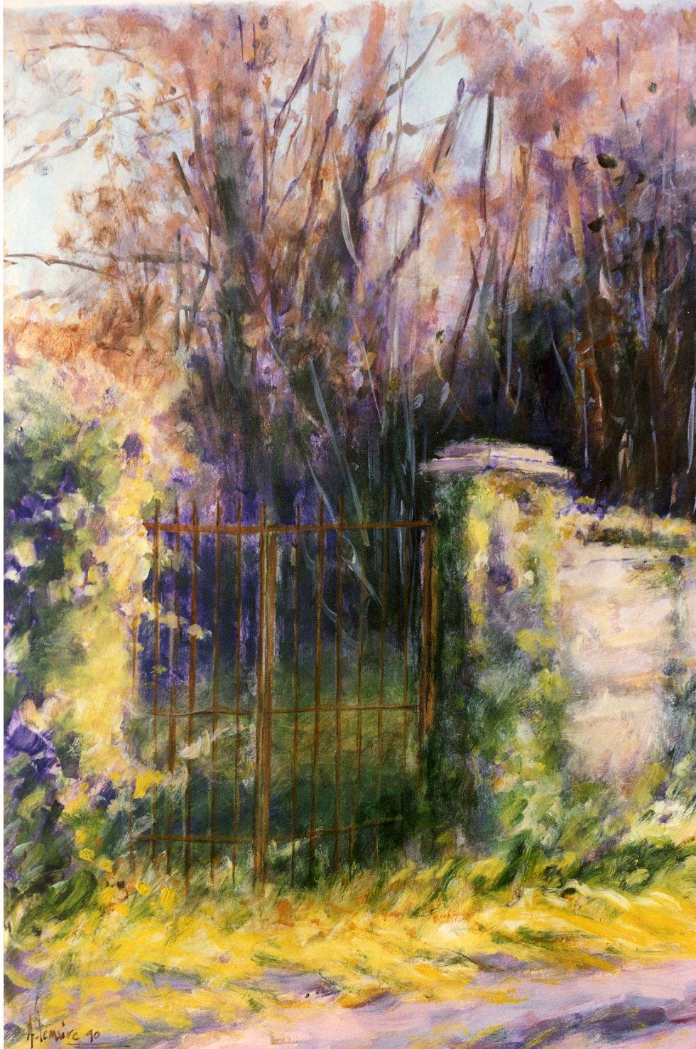 La grille, Auvers sur Oise