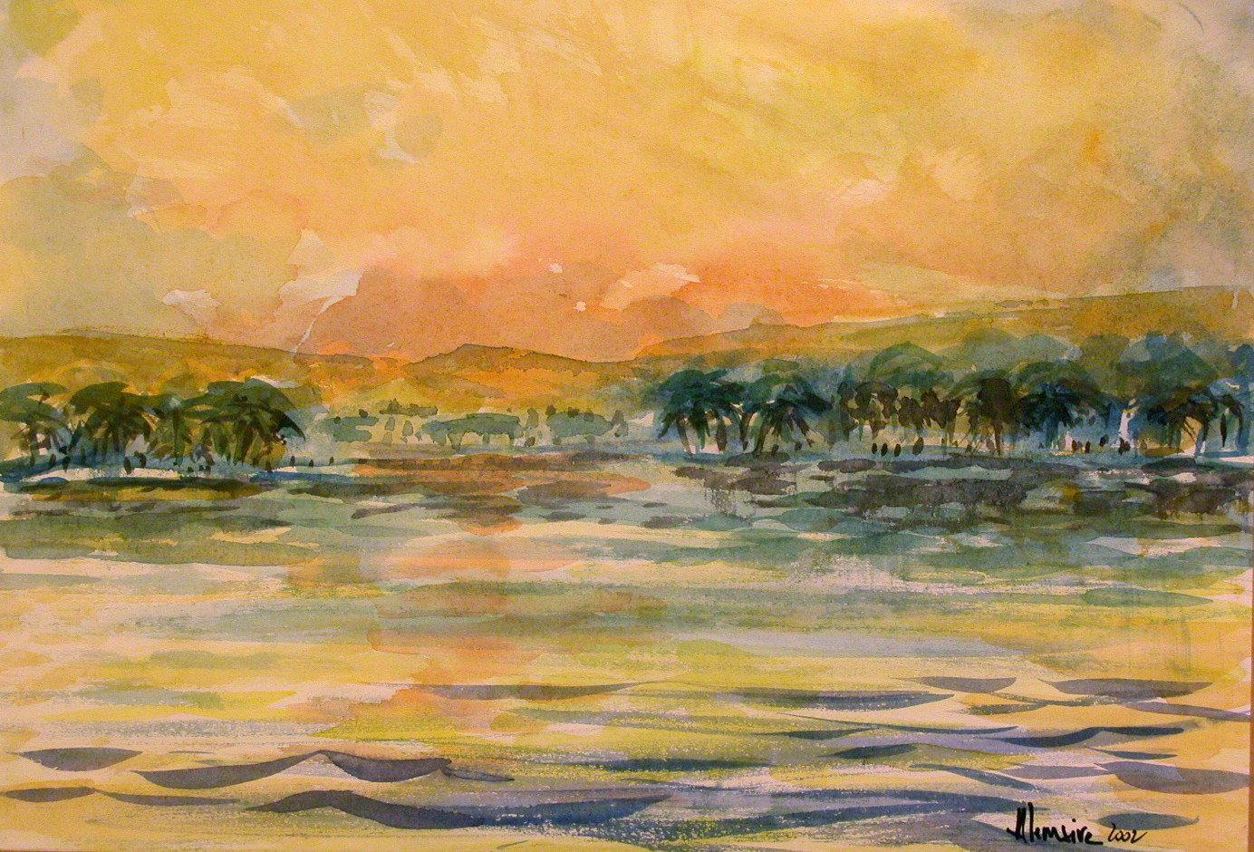Crépuscule sur le Nil
