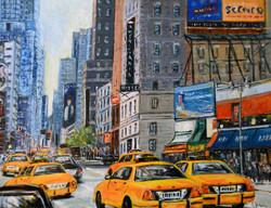 Taxis sur la 7ème avenue