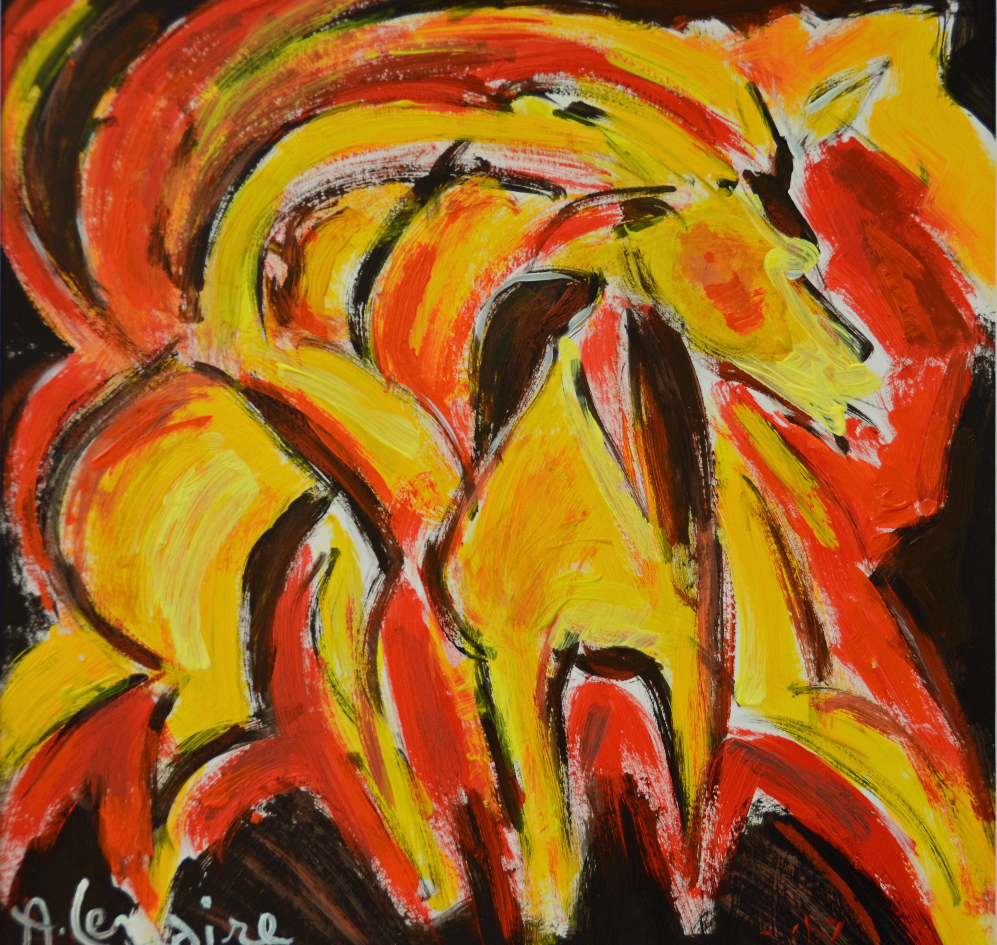 Galop en rouge et jaune