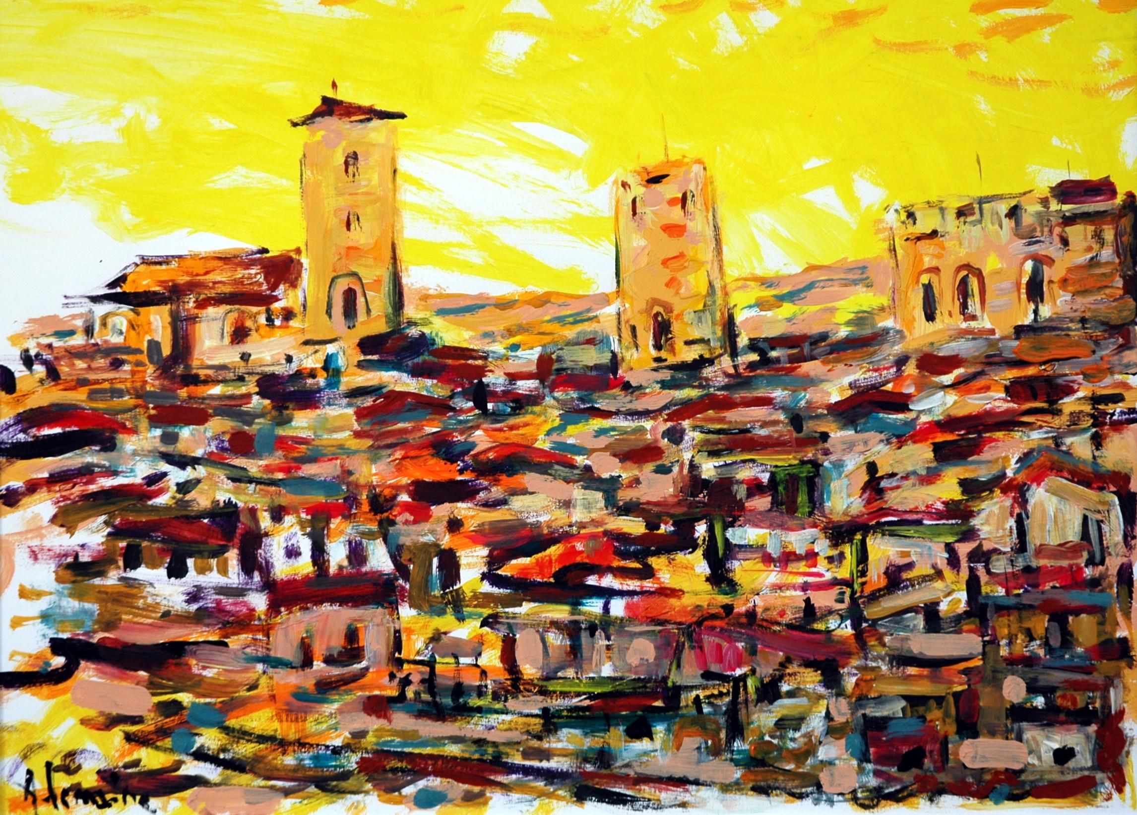 Les tours, village toscan