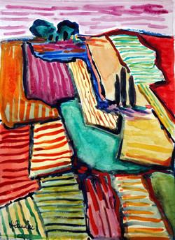 31_la_colline_(aquarelle_50X40)-_Daphné.