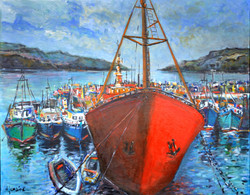 """Red boat"", port de Dundonnel"