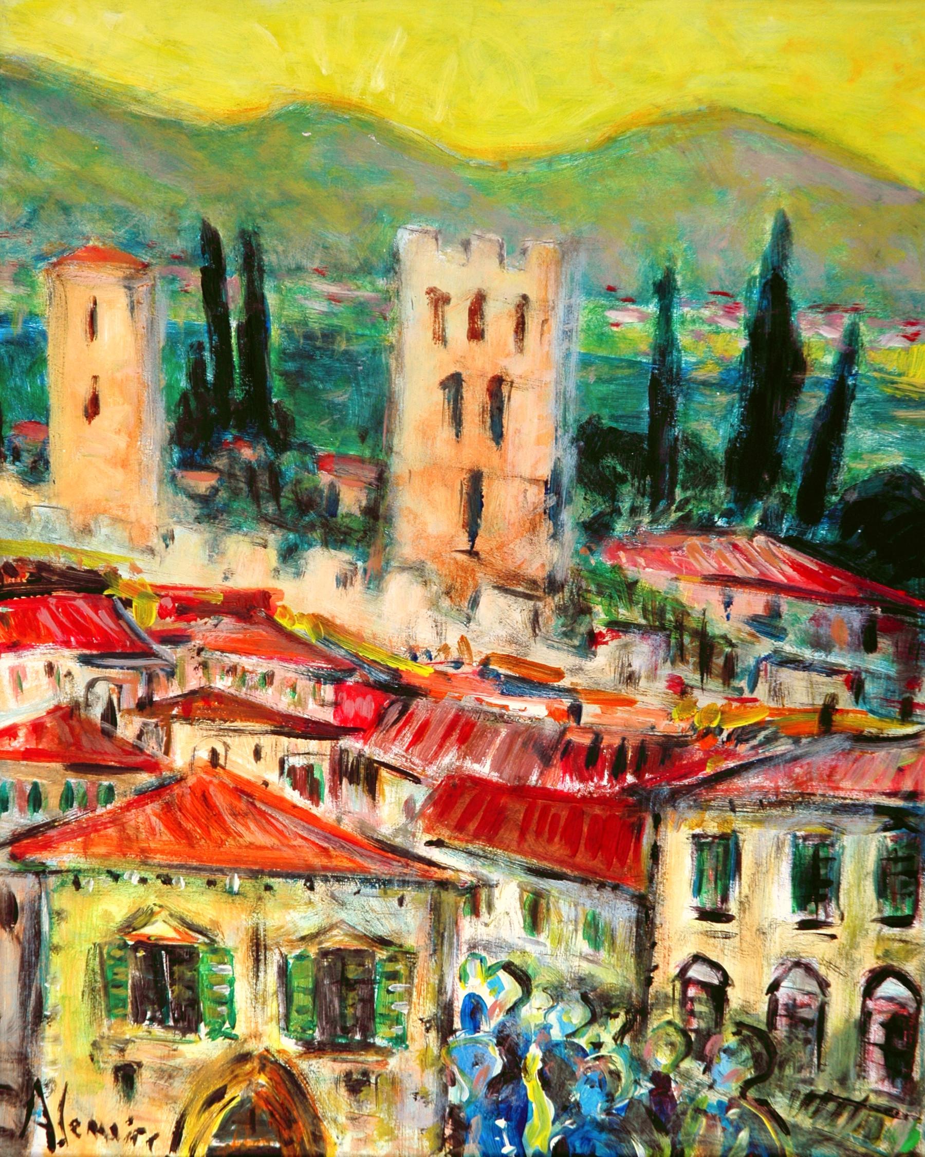 Un village fortifié en Toscane