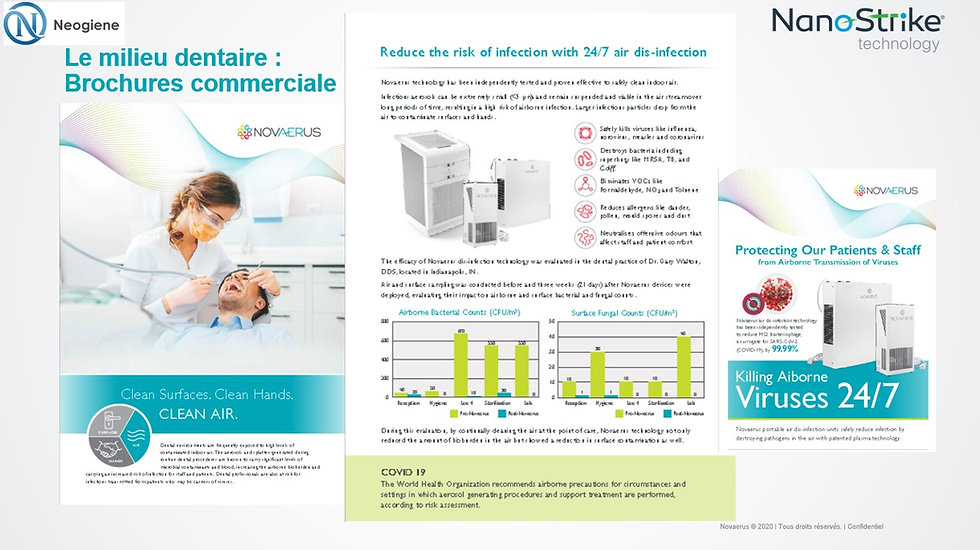 Neogiene | Brochures dentaire novaerus purification air