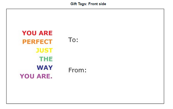 Card - Giftcard - You are perfect - Pack of 5