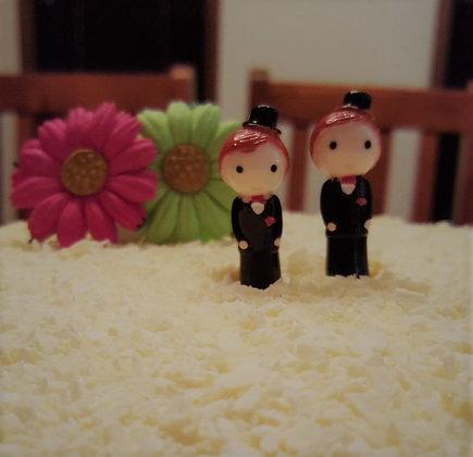 Mr & Mr Cake Topper - Little Men