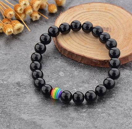 Pride Single Beaded Black Bracelet