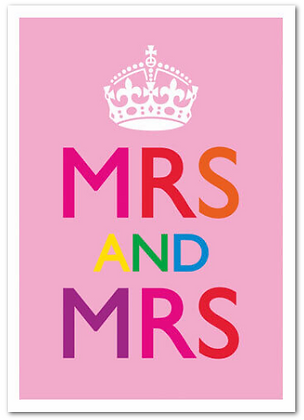 Card - Lesbian - Mrs & Mrs