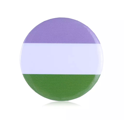 Genderqueer Round Button Badge