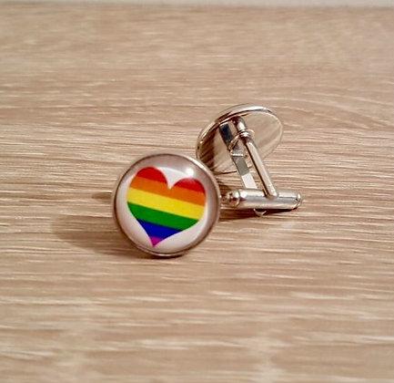 Cufflinks - Pride Love Heart
