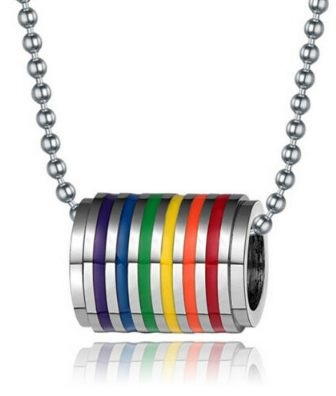 Pride Stainless Steel Tube Necklace