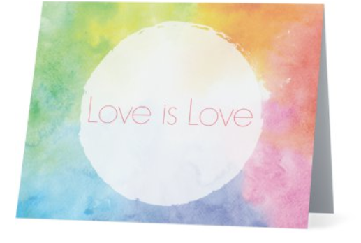 Card - Love is Love - Colours