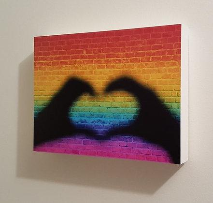Block Art - Rainbow Heart