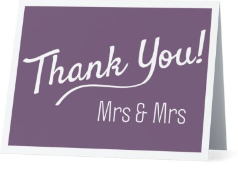 Card - Thank You - Mrs & Mrs - Pack of 5