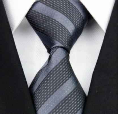 Tie - Silk Collection - Grey Stripe