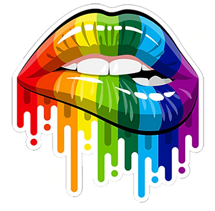 Pride LIPS Car Decal