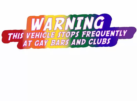 Pride Warning Decal