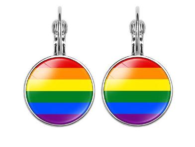 Pride Glass Drop Earrings
