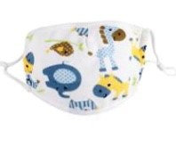 Cotton Childs Animals Face Mask